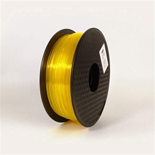 3D Printing Filament TPU Flexible Filament TPU filament Plastic for3D Printer 1.75mm Printing Materials Gray Black Red Color toughness (Color : Blue) JIAJIAFUDR (Color : Transparent Yellow)