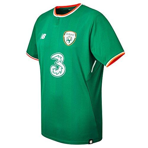 New Balance Herren Offizielles FAI Merchandise Irland Home 2017/2018 Kurzarm Trikot XXL Jolly Green