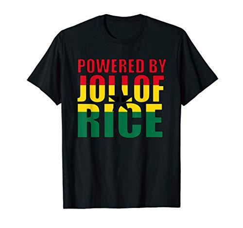 Powered By Jollof Rice - Ghana T-Shirt Für Frauen Und Männer