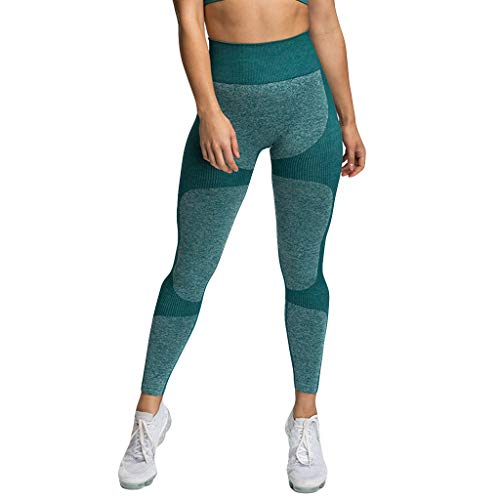 Lulupi Sport Leggings Damen Seamless Blickdicht Sporthose Fitnesshose High Waist Elastisch Yogahose Laufhose Lange Compression Sportleggins Tights Workout Gym Jogginghose