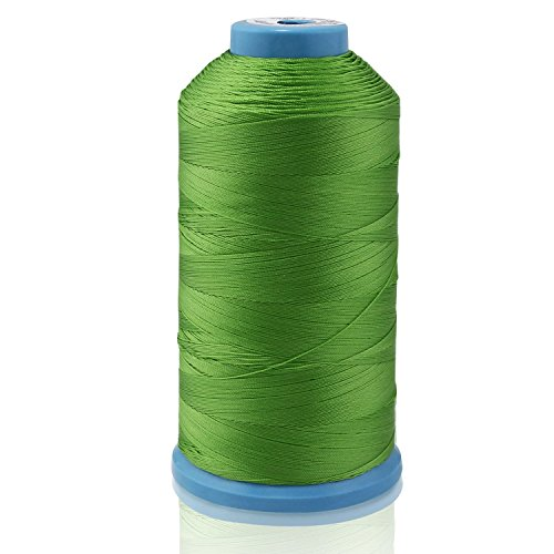 psmg Ecomoods® Bonded Nylon Hilo Strong para máquina de coser mano Stitching, verde