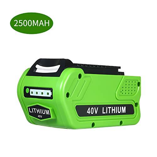 KKmoon Batería de Litio de Repuesto Recargable,40V 2500mAh para Cortacésped GreenWorks 29472 29462 40V GMAX