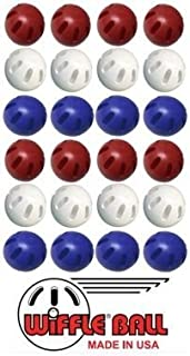 Wiffle Ball Pack of 24 Official Includes Set of 8 Blue, Set of 8 Red, And a Set of 8 White OFFICIAL Wiffle Products U.S.A Outdoor Summer Game
