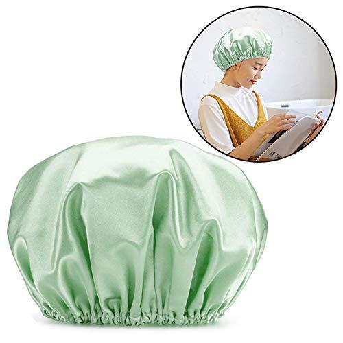KekeandYaoYao Lot de 4 bonnets de douche étanches doublés en EVA satiné pour femme