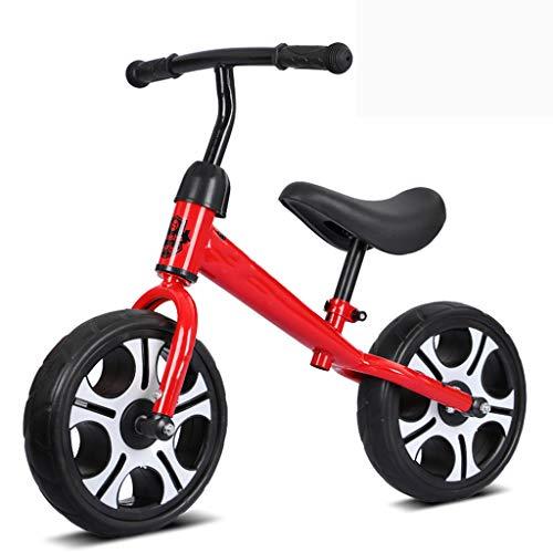 GASLIKE Spingere Bambini Sport Bambino Balance Glider Bici Walking Bicicletta per Boys & Girls 12 Pollici per 18 Mesi 2 3 4 5 Anni per i più Piccoli con poggiapiedi,Rosso