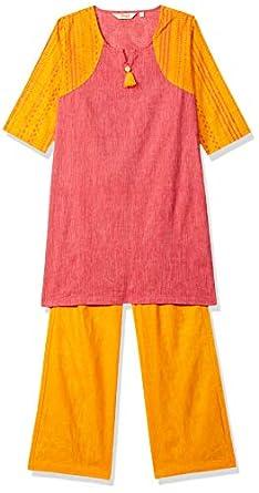 Zemyra Girl's Cotton Salwar Suit Set