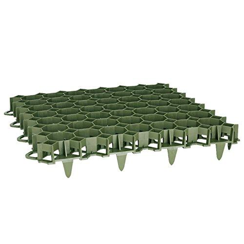 Rasengitter Rasengitterplatten Paddockplatte Platte Rasenwaben Rasenmatten grün 12 Stück (2,90m²)
