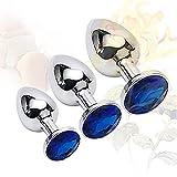 Roiz 3 Unids/Set Juego de Masaje de Accesorios de Piedras Preciosas de Metal de Diamante de Cristal