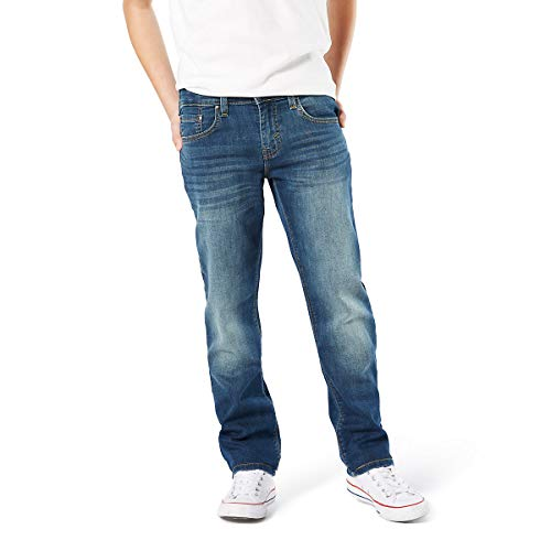 Signature by Levi Strauss & Co. Gold Label Big Boys' Slim Straight Fit Jeans, Curry, 10