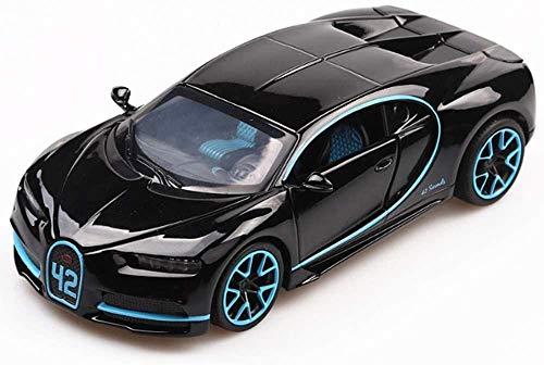Modelo de coches para niños Modelo de auto de fundición Diecast Car Bugatti Modelo Modelo de juguete de retroceso de los niños con luces reales y cuerno de aleación de zinc de sonido 1:32 True Reducci