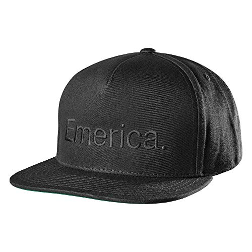 Emerica Herren Pure Snapback Baseball Cap, schwarz, Einheitsgröße