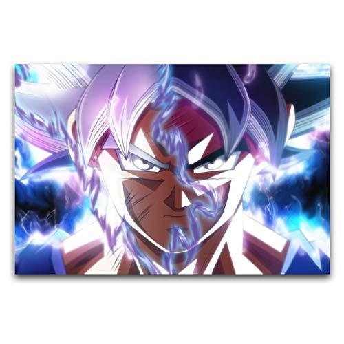 Dragon Ball Son Goku Kakarotto Super Saiyan figuras de anime en lienzo para decoración de pared de 40 x 60 cm