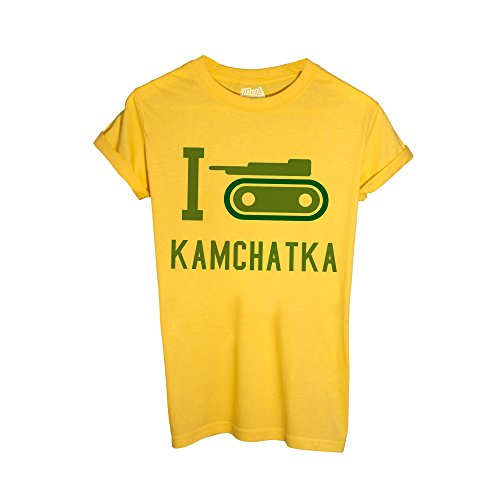 MUSH T-Shirt I Love Kamchatka - RISIKO - Games by Dress Your Style - Uomo-M-Gialla
