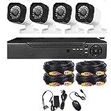 Kit De Videovigilancia Kit Impermeable De Visión Nocturna HD Kit De Vigilancia Al Aire Libre 720P 1080P Ahd Dvr-720P 1 Millón HD (Estándar)