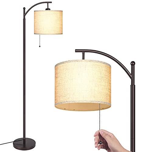 MOFFE Modern Arc Floor Lamp for Living Room, Bedroom, Office; Bright Lighting to Soft White Light -...