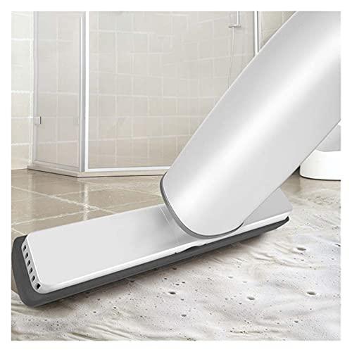 RTYUIE Automatyczny mop dociskowy. Płaski mop PVA. Gąbka głowa. Brak prania dłoni. Automatyczne wykrywanie. Czyszczenie podłóg sypialni jest wygodne i łatwe do czyszczenia. (Color : White)