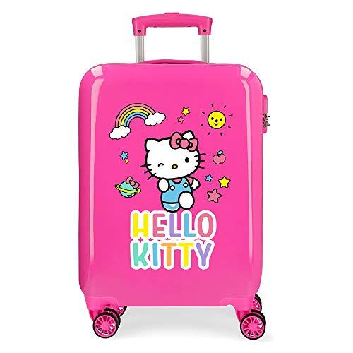Hello Kitty You are Cute Trolley cabina Rosa 38x55x20 cms Rigida ABS Chiusura a combinazione numerica 35L 2,3Kgs 4 Ruote Bagaglio a mano