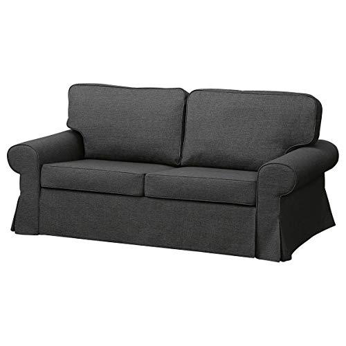 IKEA VERTSBERG - Sofá cama de 2 plazas (191 x 98 x 88 cm), color gris oscuro