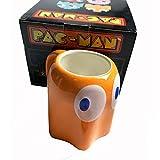 Tazza Pacman Da 320 Ml Con Coperchio Tazza In Ceramica Tazza Da Caffè Al Latte Tazza Da Tè Rosso / Giallo / Blu Tema Di Gioco Tazza Di Espressione Dei Cartoni Animati Regalo Per Bambini_Giallo