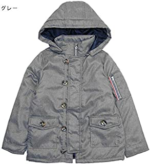 ナチュラルスタイル ジュニア アウター 防寒 コート 中綿 フード取り外し可