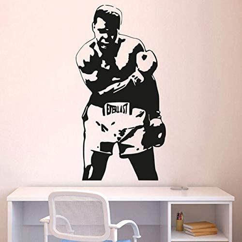 Cus Store Muhammad Ali Boxing Wall Decal Stickers Decor Vinyl Poster Cassius Clay Boxing Gift product image