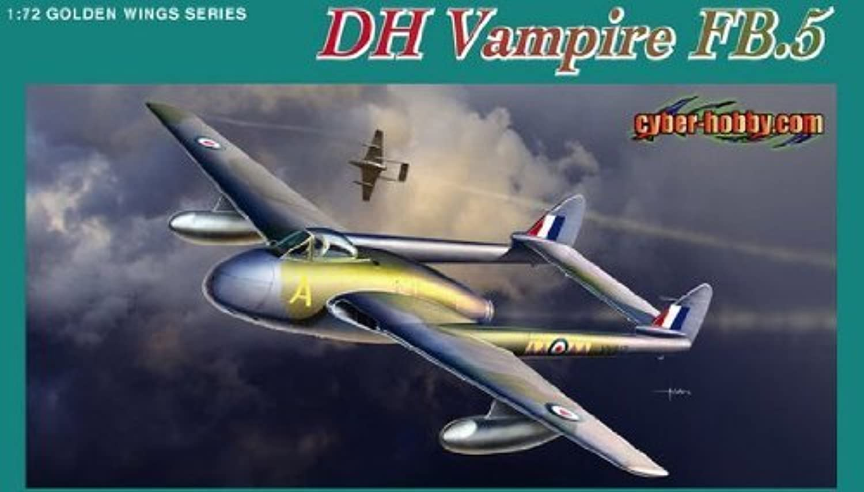 Dragon CyberHobby 1 72 Scale DH Vampire FB.5 Fighter Bomber Model Kit by Dragon CyberHobby