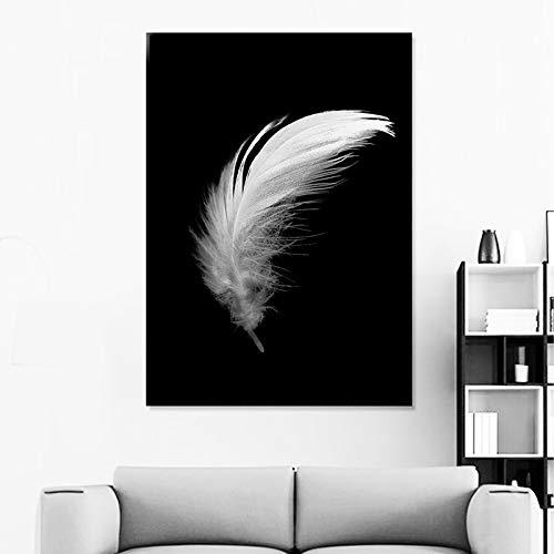 SADHAF HD Print Leinwand Kunst Malerei Wandkunst Schwarzweißbild Wohnzimmer Nordic Dekoratives Poster A2 40x50cm