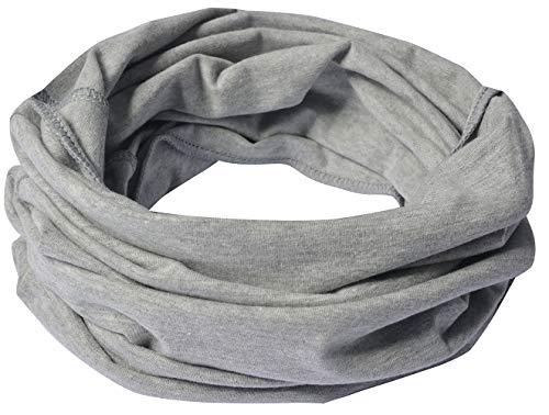Miobo Sciarpa da bambino in cotone grigio. M