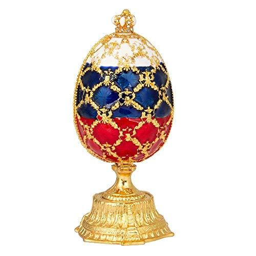 WMYATING El joyero Tiene una Forma novedosa y única, un DIS Caja de joyería Marca Hermosos Huevos Coloridos Faberge para joyería