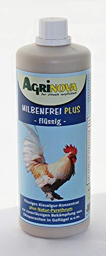 Agrinova Milbenfrei Plus Flüssig/Innovatives flüssiges Kieselgur-Konzentrat mit Natur-Pyrethrum - Auswahl: 1 Liter