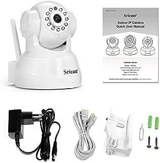 Sricam 1080P Detección De Movimiento Cámara De Alarma Red Cámara IP Inalámbrica Monitoreo De Seguridad para El Hogar Sp012 - Blanco