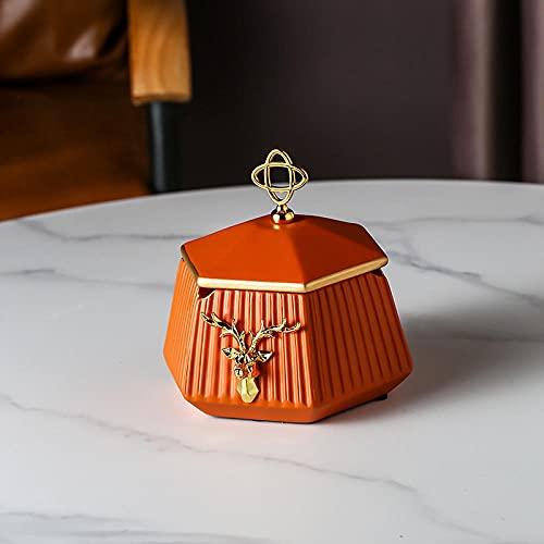 Cenicero Popkin Cerámico Cenicero Hogar Sala De Estar Personalidad Moda Moda Creativo Café Decoración Adornos-Cenicero Rojo Naranja
