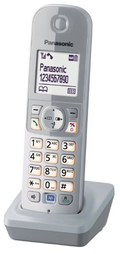 Panasonic KX-TGA681EXS Mobilteil für KX-TG68xx Serie inkl. Ladeschale perl-Silber