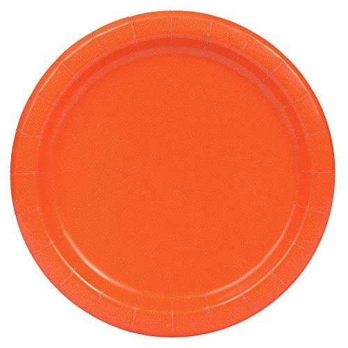 Unique Party 21.9cm Party Teller, 16er Pack, orange