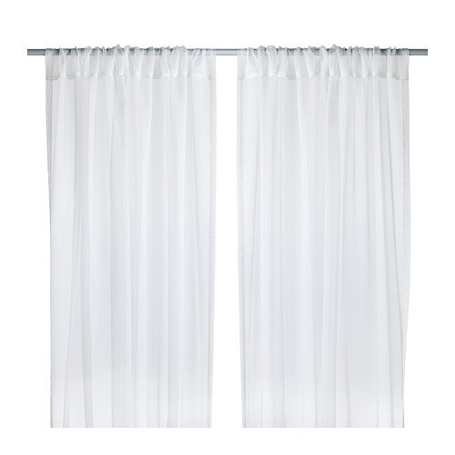 Ikea Teresia Sheer Curtains, White