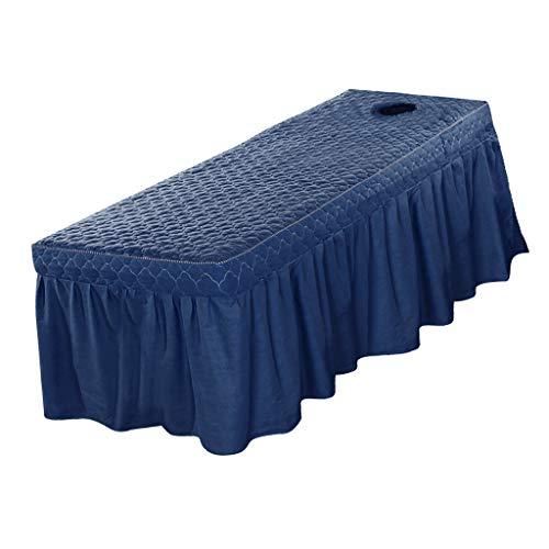 LOVIVER Professionelle Massagetisch Rock Schönheit Bettdecke Volant Blatt Passt 73x28 Zoll Stationäre Und Tragbare Tische (21 Zoll Drop Rock) - Blau