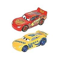 Carrera Toys Carrera FIRST Disney Pixar Cars 3 – Set pista da corsa a batteria e due macchinine con Saetta Mcqueen e Dinoco – Gioco adatto per bambini dai 3 anni, Multicolore, 2.4 m, 20063010 #2