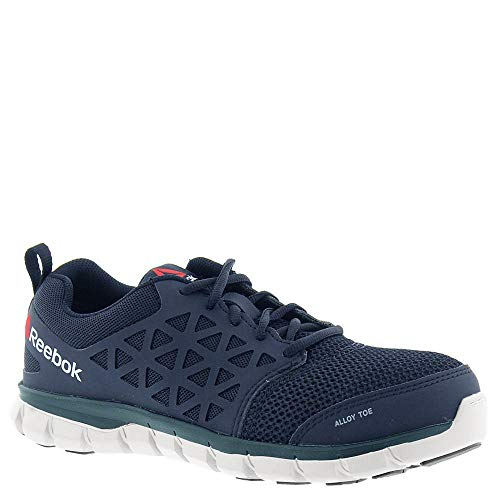 Reebok Work Mens Sublite Cushion Work Casual Work & Safety Shoes, Navy, 11