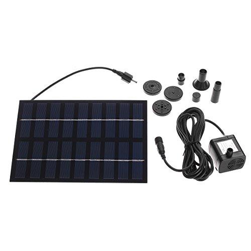 Masun Solarpumpe, solarbetrieben, Wasserpumpe, für Brunnen/Teich/Pool/Garten