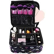 DUcare Small Travel Makeup Case, Professional Lip Cosmetic Makeup Bag Organizer Portable Makeup...