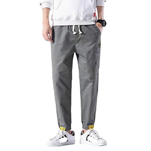 Pantalon Homme Grande Taille Salopette décontractée lâche lâche Pantalon Sarouel Sauvage Pantalon Neuf Points Pantalon adapté pour Les Sports de Plein air