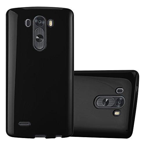Cadorabo Hülle für LG G3 - Hülle in Jelly SCHWARZ – Handyhülle aus TPU Silikon im Jelly Design - Silikonhülle Schutzhülle Ultra Slim Soft Back Cover Case Bumper