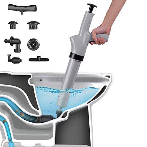 FCS Bathroom Desatascador Profesional De Drenaje con Aire Comprimido Potente desatascador Manual...