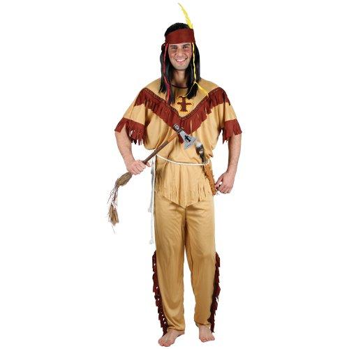 Wilder Westen Roter Indianer Verkleidung für Männer Halloween Fasching Kostüm M