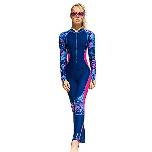 YuanDian Hombre Mujer Traje De Buceo Surf Mono Proteccion Solar Traje De Manga Larga Piscina Windsurf Traje De Baño Natacion Snorkel Traje Submarinismo Bañador Ropa Buceo Rose 2XL