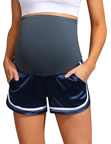 Maacie Pantalones cortos de deporte para mujer, para yoga, entrenamiento, fitness, con bolsillos MCS02041 Mc0034s21(1#) XXL