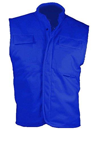 Grevotex Weste Sicherheitsweste Arbeitsweste Arbeitskleidung Berufskleidung blau (48/50N)