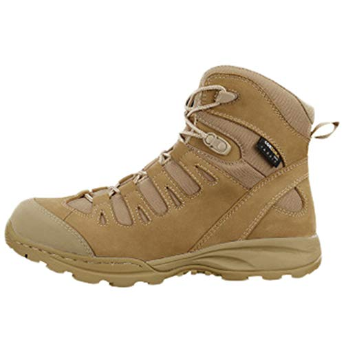 Wygwlg Military Assault Waterproof Boots Ambush Cadets Desert Army Outdoor Sports Shoes Tactical Work Utility Footwear Shoes for Men,Sand-44