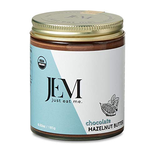 JEM - All Natural, Vegan, Organic, Dairy Free Chocolate Hazelnut Butter - Creamy Artisan Spread for Snacks and Sandwiches, 6 oz