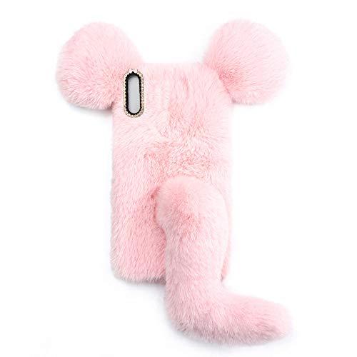 YHY Linda Funda De Teléfono con Forma De Ratón para Samsung Galaxy A02 Funda Silicona TPU Felpa Romántica Creativa De Moda Rosado